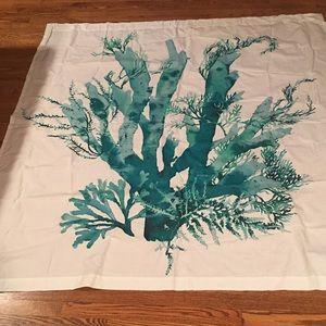 Anthropologie Gingko Cotton Shower 🚿 Curtain